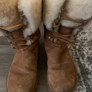 UGG boots lace up size 9.5